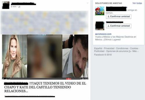 Esta es la imagen que aparece en las redes sociales con el supuesto video de Kate y el Chapo.  (Foto: elcomercio.pe)