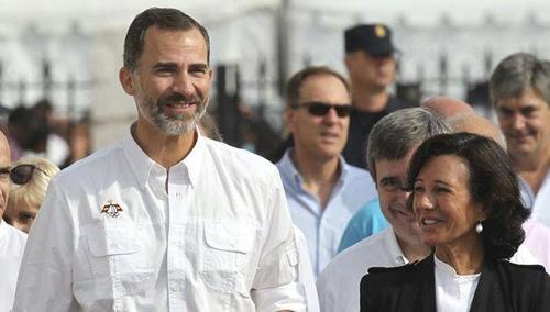 Ana Botín junto al Rey de España en el Mundial de Vela de Santander (Foto: EFE)