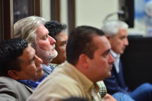 Juan José Suárez se quedó dormido en una de las audiencias. (Foto: Jesús Alfonso/Soy502)
