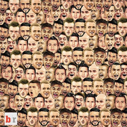 El nuevo reto visual es encontrar al jugador del Real Madrid, Cristiano Ronaldo entre los rostros de otros jugadores. (Foto: Facebook/Bleacher Report UK)