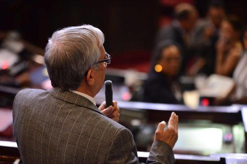 La iniciativa de Ley de la Juventud generó la discusión entre Taracena y Oliverio García Rodas. (Foto: Jesús Alfonso/Soy502)