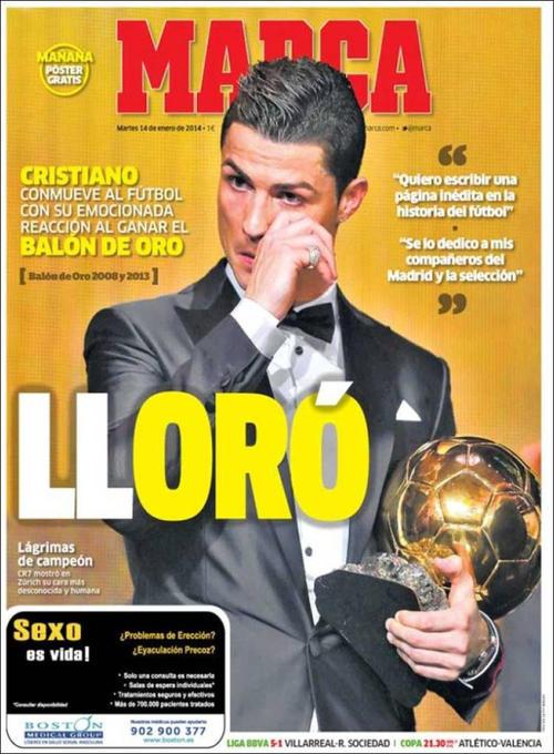 El diario deportivo español Marca se puso creativo con un titular corto y preciso. (Imagen: portada de Marca)