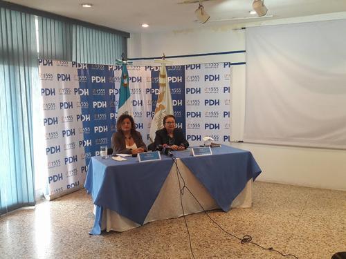 Zulma Calderón y Hilda Morales en conferencia de prensa. (Foto: Javier Lainfiesta/Soy502)