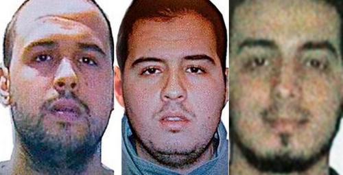 Imagen de los sospechosos de ser los responsables de los atentados terroristas en Bruselas, Bélgica. (Foto: El País.)