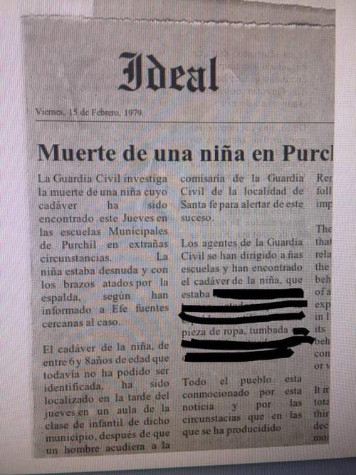 Un periódico registra una noticia falsa de la muerte de una niña en ese mismo lugar. (Foto: Verne)