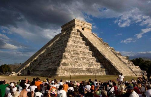 El templo de Chichén Itzá en Chiapas, México. (Foto: webcams.méxico)