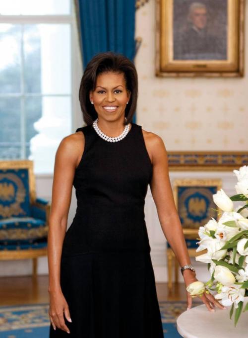 El retrato oficial de Michelle Obama como primera dama de EE. UU en 2009. (Foto: CORDON PRESS)