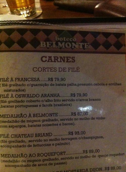 """La imagen corresponde al menú de uno de los restaurantes que ha """"encarecido"""" los precios de las comidas. Foto $urreal/Facebook"""
