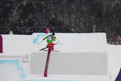 Dominique Ohaco entrena en las pistas de Sochi. Foto Dominique Ohaco/Facebook