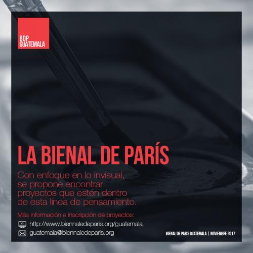 (Bienal de París en Guatemala oficial)