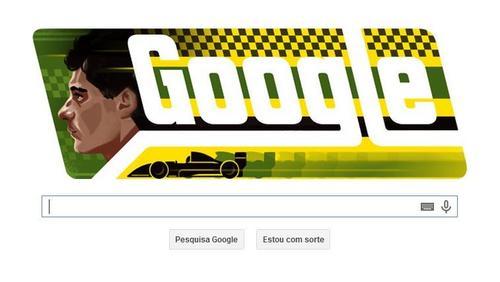El pasado 21 de marzo, Google, le dedicó su doodle al piloto brasileño que ese día hubiese cumplido 54 años. (Foto: Google)
