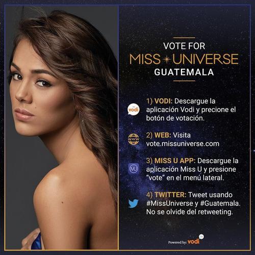 Instrucciones para votar por Miss Guatemala. (Foto: Miss Universe Guatemala)