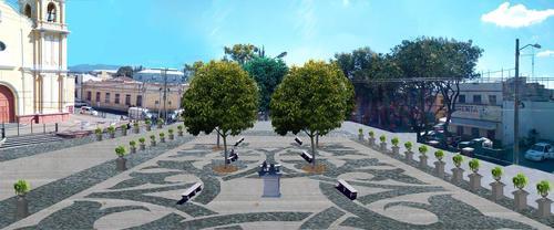 Así lucirá la nueva plaza frente a la iglesia de La Parroquia en la zona 6. (Foto: Municipalidad de Guatemala)