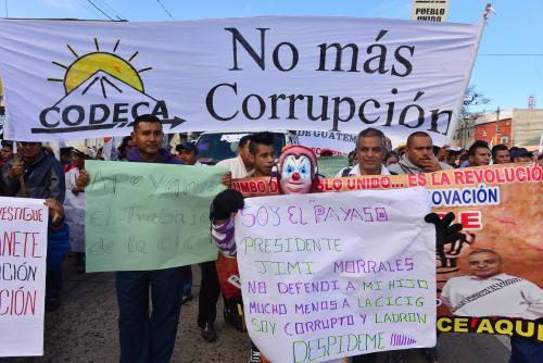 Los manifestantes harán varias peticiones al presidente Jimmy Morales. (Foto: Archivo/Soy502)