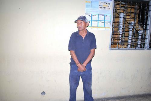 Pedro Pascual Tzoc Cajchum, de 75 años, fue capturado en su vivienda. (Foto: Cortesía de Nuestro Diario)
