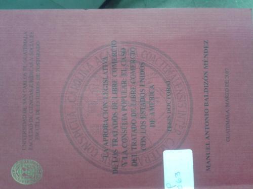 Portada de la tesis doctoral de Manuel Baldizón (Foto: Soy502)
