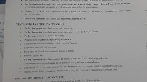 El documento sale del catálogo de servicios de Mossack Fonseca. (Foto: Soy502)