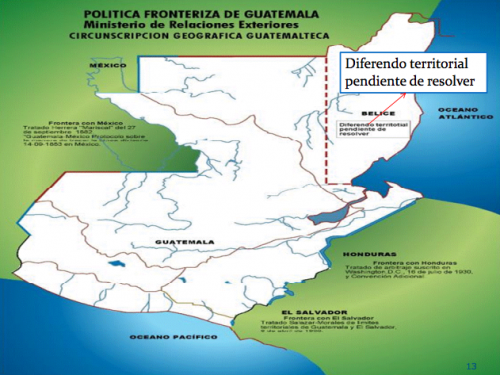 Territorio reclamado por Guatemala. (Foto: Minex)