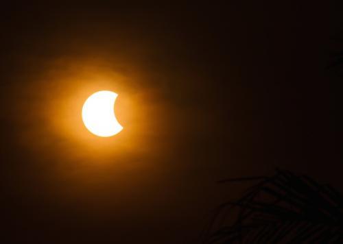Así se ve un eclipse parcial. (Foto: Cortesía Edgar Castro Bathen)