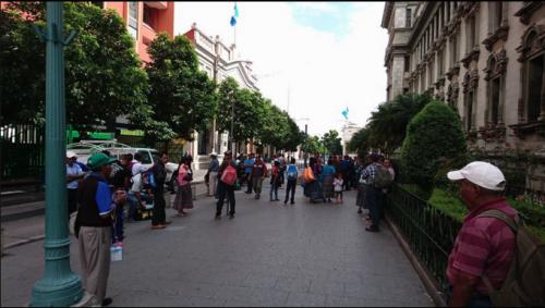 En el Centro Histórico ya se concentran otros manifestantes. (Foto: Facebook/Mario Magoz)