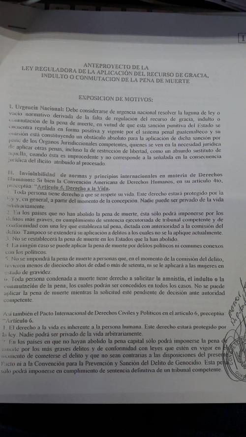Texto de la iniciativa promovida por Marcos Fernando Yax. (Foto: Soy502)