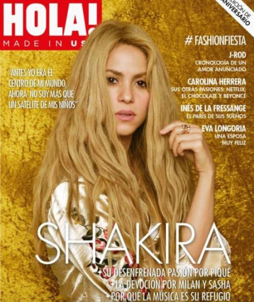 Portada de la entrevista a la cantante colombiana. (Foto: Hola)