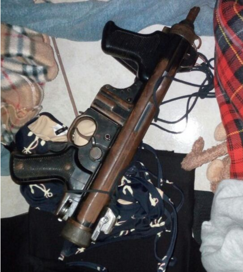 Esta es una de las armas incautadas por la PNC luego del ataque. (Foto: PNC)