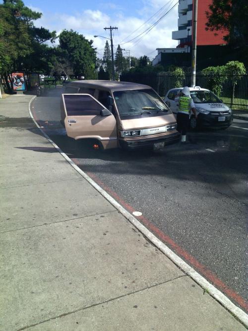 Así quedó el vehículo. (Foto: Amilcar Montejo/PMT)