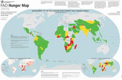 Guatemala: el punto rojo del fracaso en el combate al hambre en el continente americano. (Ilustración: FAO)