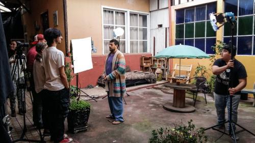Una de las escenas del piloto de de la nueva producción de Rodolfo Espinosa. (Foto: Julio Apopa)