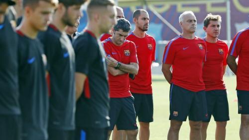 Antes del entrenamiento del viernes, el plantel blaugrana guardó un minuto de silencio. (Foto: FC Barcelona)