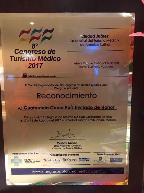 Los representantes nacionales fueron reconocidos por su participación en Ciudad Juárez. (Foto: Inguat)