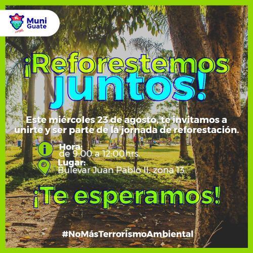 La comuna capitalina inicia reforestación. (Foto: Facebook)