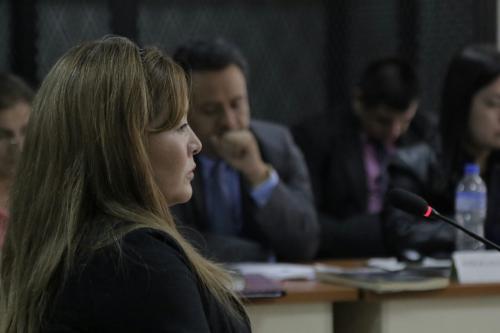Blanca Estella Meneses es testigo del MP en el caso Chicamán. (Foto: Alejandro Balán/Soy502).