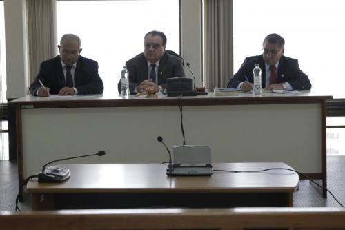 Los magistrados Rualdo Chávez, Gustavo Dubón y Eduardo Galván Casasola integran la Sala Segunda de la Corte de Apelaciones. (Foto: Alejandro Balán/Soy502).