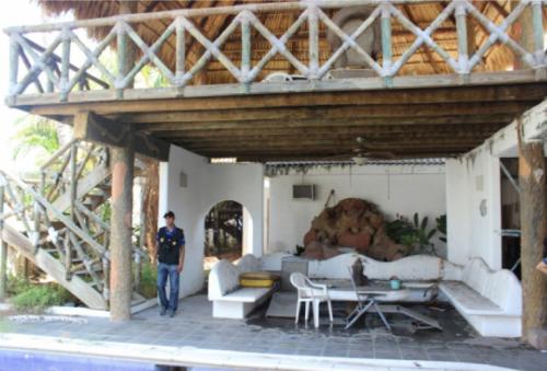 La vivienda ubicada a inmediaciones del puerto de Iztapa está a nombre de una de las hijas de Lima. (Foto: MP)