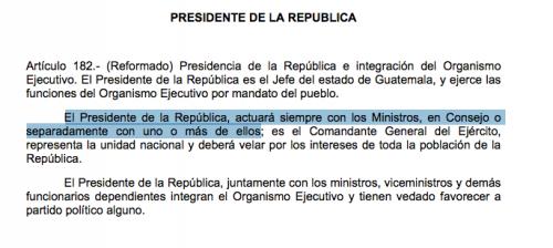 Esto dice la Constitución Política de la República respecto a sus actuaciones.