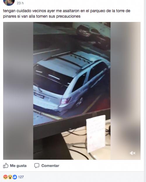 La víctima pidió los videos de las cámaras de seguridad pero la compañía no se hizo cargo de los sucedido. (Foto: Captura Facebook)