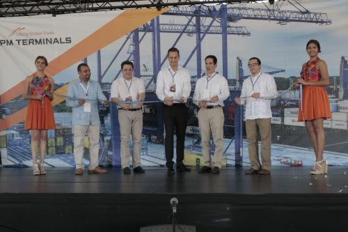 Autoridades participaron en el evento de reinauguración comercial de la terminal a finales de noviembre de 2017. (Foto: Alejandro Balán/Soy502)