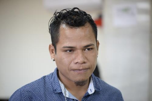 Previo a conocer la resolución, el joven dijo que no tenía algo por agregar y pidió ir a juicio. (Foto: Wilder López/Soy502)