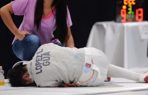 Luis López se lesionó y se tuvo que retirar de la final. (Foto: Pedro Pablo Mijangos/Nuestro Diario)