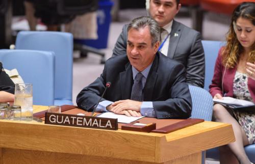Skinner-Klée es el representante permanente de Guatemala en Naciones Unidas. (Foto: Minex)