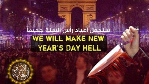 Esta es la imagen con el mensaje donde se anuncia un supuesto atentado.