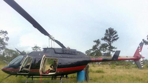 Helicóptero del narcotráfico incautado por el ejército hondureño en 2014, vinculado supuestamente al hermano del Presidente de ese país. (Foto: Univisión)