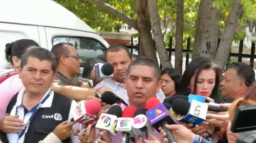 Santos Rodríguez ofreció una conferencia de prensa en Tegucigalpa el 8 de diciembre. (Foto: Univisión)
