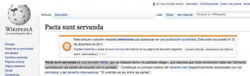 El artículo 5, inciso I, es copiado de manera literal de Wikipedia. (Foto: captura de pantalla)
