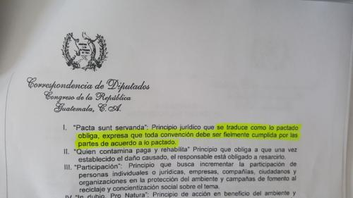 Este es el artículo 5, inciso I, de la propuesta del diputado Felipe Alejos. (Foto: Jessica Gramajo/Soy502)
