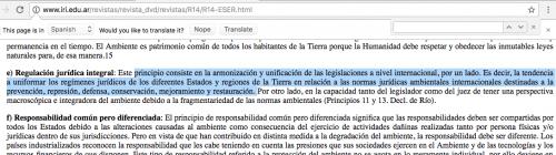 """El inciso es una copia textual de un concepto establecido en la revista """"Relaciones Internacionales"""" del Instituto de Relaciones Internacionales de la Universidad Nacional de la Plata de Argentina.  (Foto: captura de pantalla)"""