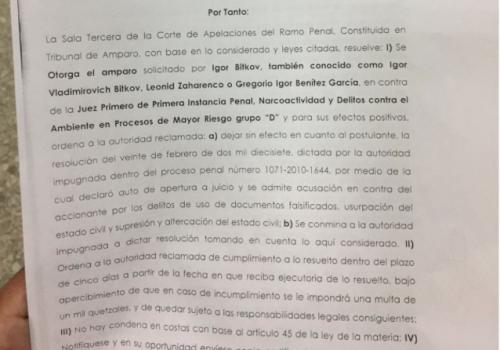Según la resolución, si el Juzgado de Mayor Riesgo D no cumple con lo ordenado, se le impondrá una multa de 1 mil quetzales.