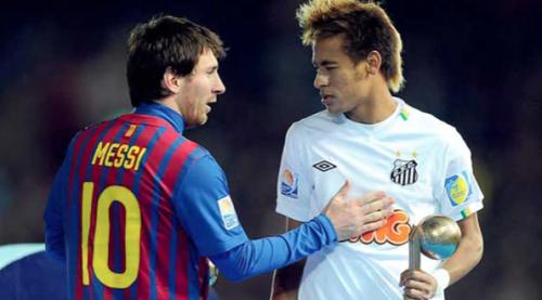 Lionel Messi y Neymar se cruzaron en la final del Mundial de Clubes del 2011. (Foto: Infobae)